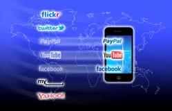 ¿Cuál está en su red móvil hoy? Foto de archivo libre de regalías