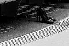 ¿Dónde están mis zapatos? Fotos de archivo libres de regalías