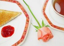 ¿Desayunan mis queridos? Imagen de archivo libre de regalías