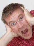 ¿Dolor de cabeza? ¿Tensión? Fotos de archivo libres de regalías