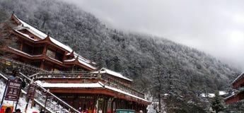 ¿El Monte Emei en la provincia de Sichuan? imagen de archivo libre de regalías