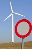 ¿Energía eólica - una calle unidireccional? Foto de archivo