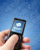¿Envíe el mensaje? Imagen de archivo libre de regalías