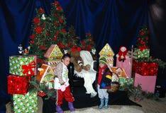 ¿Está Santa aquí todavía? Foto de archivo