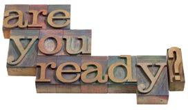 ¿Está usted listo? Fotos de archivo