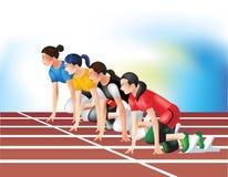 ¿Está usted listo para correr? stock de ilustración