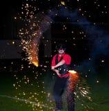 ¿Fuego artificial humano en Hogmanay? Imágenes de archivo libres de regalías