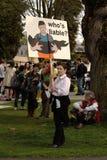 ¿La reunión del día de tierra de Vancouver, quién es obligada? Foto de archivo libre de regalías