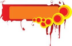 ¿Marco abstracto - cielo o infierno? stock de ilustración