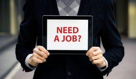 ¿Necesite un trabajo? Fotos de archivo