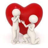 ¿Oferta de unión - usted me casará? stock de ilustración