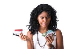 ¿Qué de la tarjeta de crédito a utilizar? Fotografía de archivo