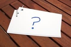 ¿Qué a escribir? Tarjetas de índice para los discursos imagenes de archivo