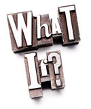 ¿Qué si? Fotografía de archivo