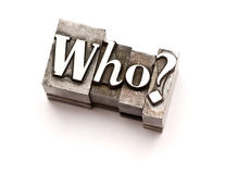 ¿Quién? Fotos de archivo libres de regalías