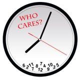 ¿Quién cuida sobre tiempo? Fotos de archivo