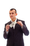 ¿Quiera un poco de dinero? Imagen de archivo