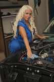 ¿Reparación del coche? Foto de archivo