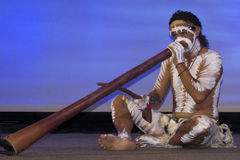 ¿Soy didgeridoo azul? Imágenes de archivo libres de regalías