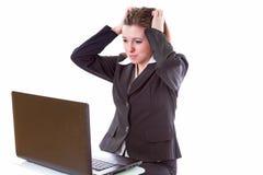 ¿Tensión en el trabajo? Foto de archivo libre de regalías
