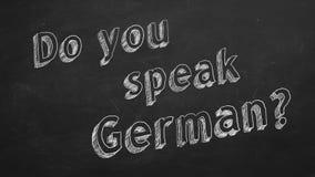 ¿Usted habla alemán? ilustración del vector