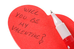 ¿Usted será mi tarjeta del día de San Valentín? Imagen de archivo libre de regalías