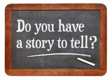 ¿Usted tiene una historia a decir? fotos de archivo