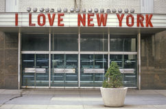 �I Love New York� sign in Columbus Circle, New York City, NY