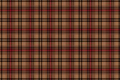 Scottish cell. Seamless vector cage pattern. Repeating. Beige with brown background