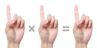 1 × 1 = 1 库存图片