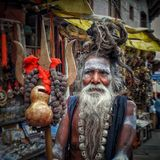 बाबाओ का शहर बनारस। the varanasi city of babas. Inside India have a beautiful stock images