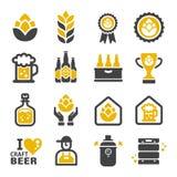 À¸° del ³ del ภdel ภdell'icona della birra del mestiere « illustrazione di stock