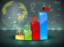 ฺฺBar graph investment overview Stock Photos