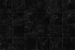 ฺฺBlack marble tiles seamless flooring texture for background and design. Stock Images