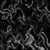 ฺฺBlack marble tiles seamless flooring texture for background and design. Stock Images