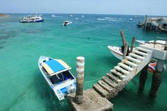 ฺิิBoat in Larn island, East of Thailand Royalty Free Stock Photos