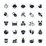ฺBaby icons Royalty Free Stock Image