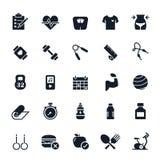 ฺBaby iconsFitness icons Royalty Free Stock Photography