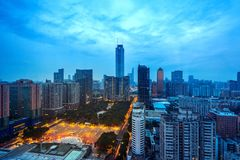 ฺBeautiful Guangzhou-cityscape in China stock afbeeldingen