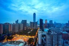 ฺBeautiful Guangzhou pejzaż miejski w Chiny obrazy stock