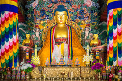 ฺBhutanese temple at Bodhgaya Royalty Free Stock Photos