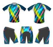 ฺBicycle apparel sports t-shirt vector. Bicycle apparel sports t-shirt vector cycling vest graphics colors design on a white background stock illustration