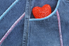 ฺBlue Jeans and Heart Stock Image