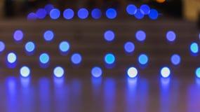 ฺBlurred blue color lights with bokeh effect Royalty Free Stock Photo