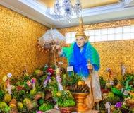 ฺBo Bo Gyi på den Bo Ta Tuang Paya templet, Myanmar Royaltyfria Foton