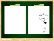 ฺBulb idea note paper Royalty Free Stock Images