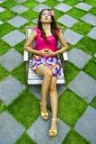 ฺWoman relaxing Royalty Free Stock Image
