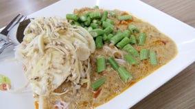 ขนมจีน. Thai food. Noodles Stock Photos