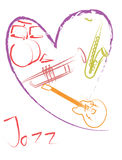 ๋๋Jazz music lover Stock Images