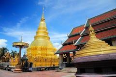 ็Hariphunchai Temple. Wat Phra That Hariphunchai's earliest origins were in 897 when the then king of Hariphunchai is said to have built a stupa (now the Stock Photography